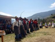 Local people welcoming guests with Sherpa Song