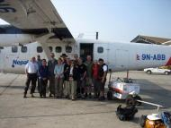 Group at Phaplu airport