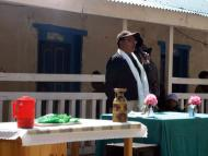 District Health Officer speaking at Welcome Ceremony