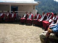 Monks at Welcome Ceremony
