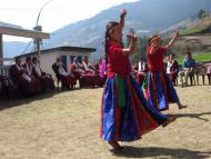 Local girls performing Nepali Dance at Welcome Ceremony