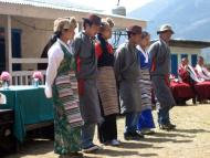 Local sherpas performing Sherpa Dance at welcome ceremony