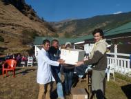 Handover of the Lab Culture Equipment by GHAWS