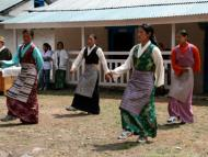 Welcome dance performed by local villagers