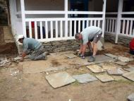 Stone pavement work