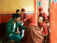 Free medical camp conducted by KPHMN at Thubten Choling Monastery.